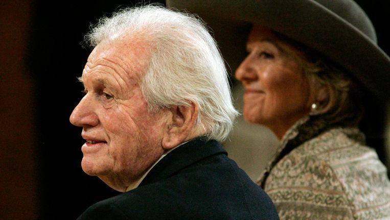 Jorge Zorreguieta en zijn echtgenote Maria Zorreguieta in 2005. Beeld anp