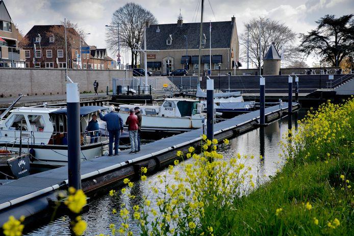 De haven van Alblasserdam.