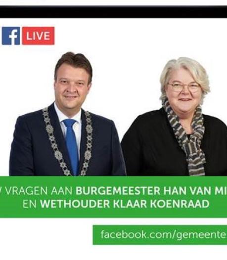 Burgemeester live op Facebook over corona