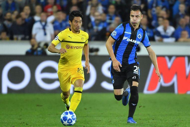 Kagawa aan het werk in de Champions League tegen Club Brugge.