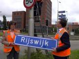 Duurzame verkeersborden van bamboe in Rijswijk