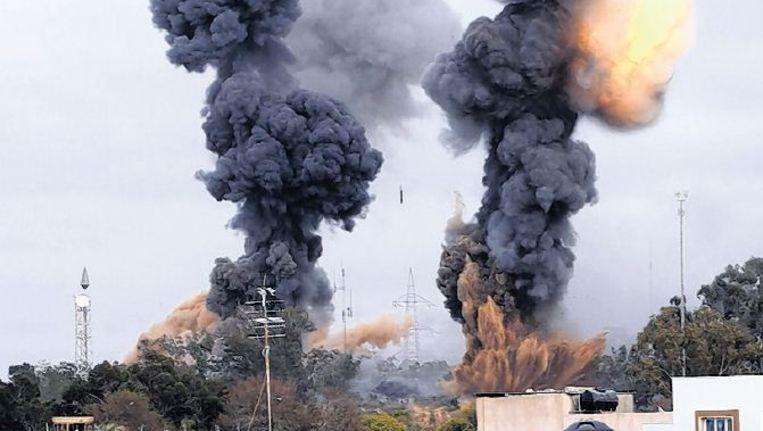 Bombardement bij Tripoli. Foto: ap Beeld