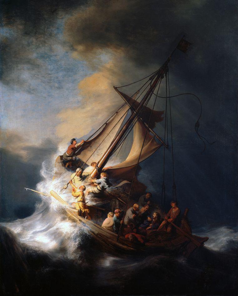 Rembrandt, De storm. 1633.  Beeld Isabella Stewart Gardner Museum, Boston.