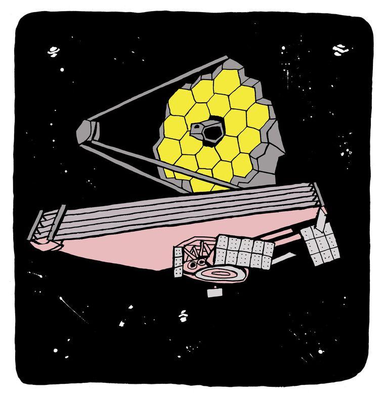 In maart 2018 brengt de Nasa zijn nieuwe ruimtetelescoop Tess per raket in stelling. Beeld Bas van der Schot