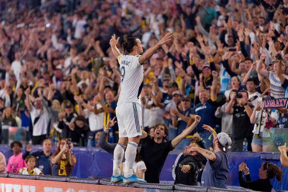 Zlatan na zijn hattrick tegen Kansas City.