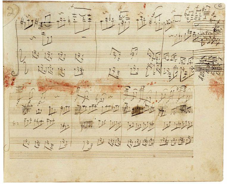 Manuscript van Beethovens Grosse Fuge. Beeld REUTERS