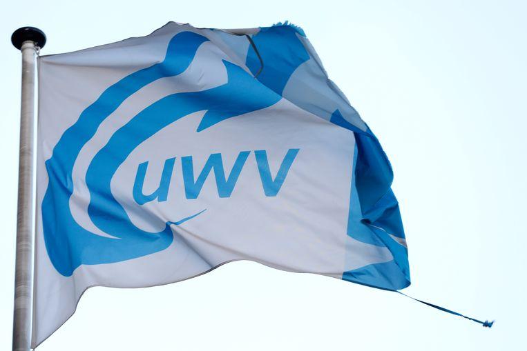 Het logo van uitkeringsinstantie UWV. Beeld ANP