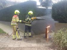Paaltje in brand aan Knapheideweg in Groesbeek