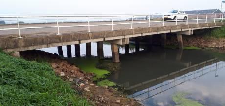 Laag water brengt aantasting bruggen over Hertogswetering aan licht