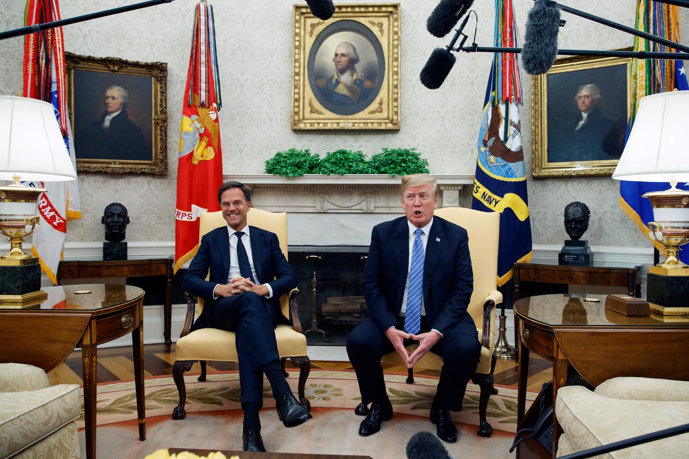 Rutte tijdens zijn vorige bezoek aan het Witte Huis, op 2 juli vorig jaar.