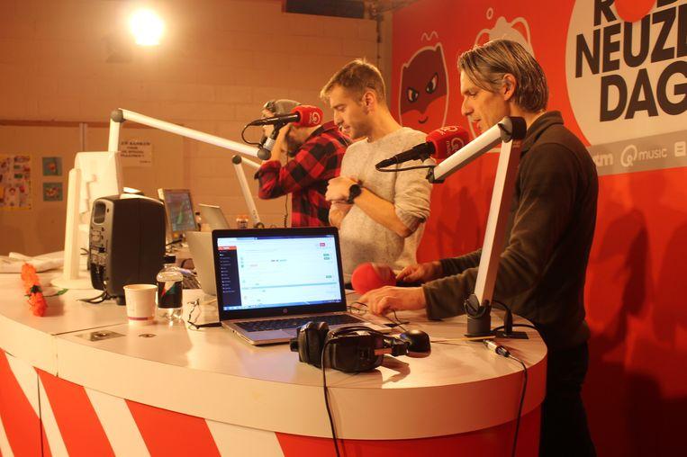 Q-Music-presentatoren Wim Oosterlinck en Sam De Bruyn