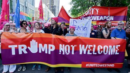 Protestmanifestatie in Brussel wegens aanwezigheid Trump op NAVO-top