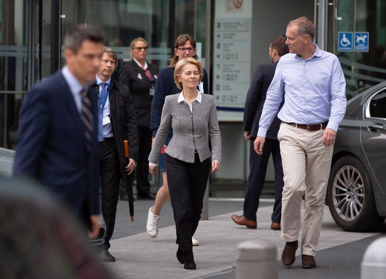 Ursula von der Leyen in Brussel. Beeld AP