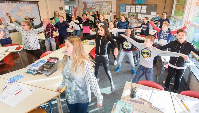 'Zit stil!' is op de Nico Bulderschool in Hoogezand vervangen door: 'Spring'.