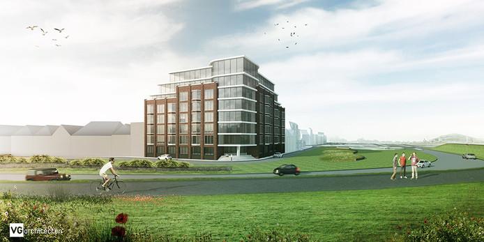 Visualisatie Residentie Veerhaven aan de Scheldekade in Terneuzen.