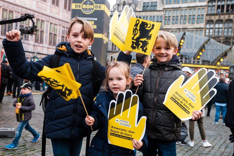 Lander, Kato en Wannes Heirbaut zijn klaar voor de bijzondere dag.