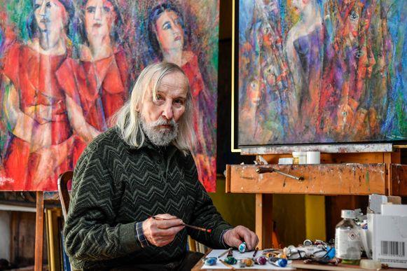 Leo De Beul  is één van de kunstenaars die zijn atelier en tuin openstelt.