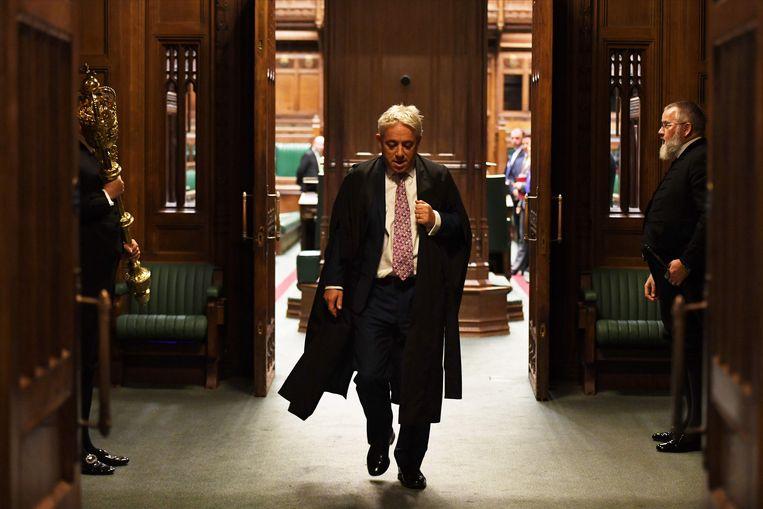 John Bercow loopt het parlement uit nadat hij zijn functie als speaker eind vorige maand neerlegde.