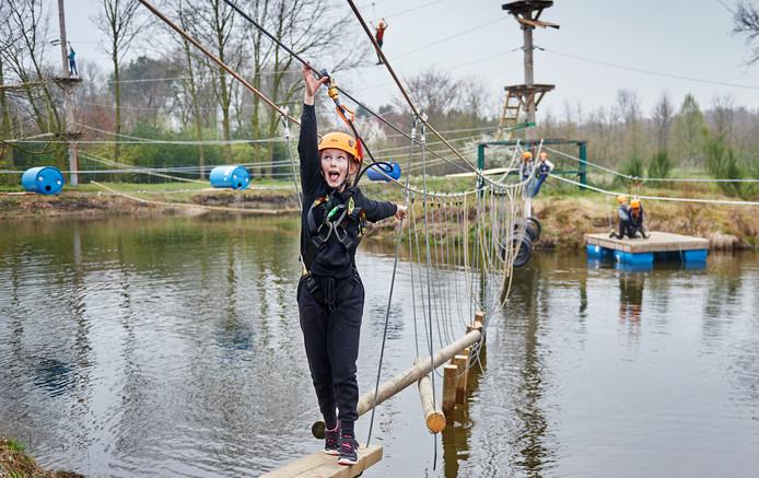 Populair bij kinderen is de nieuwe klim- en klauterbaan die Teugel Resort vorig jaar al in gebruik nam.