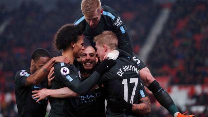 City doet wat het moet en staat op twee wedstrijden van Engelse titel