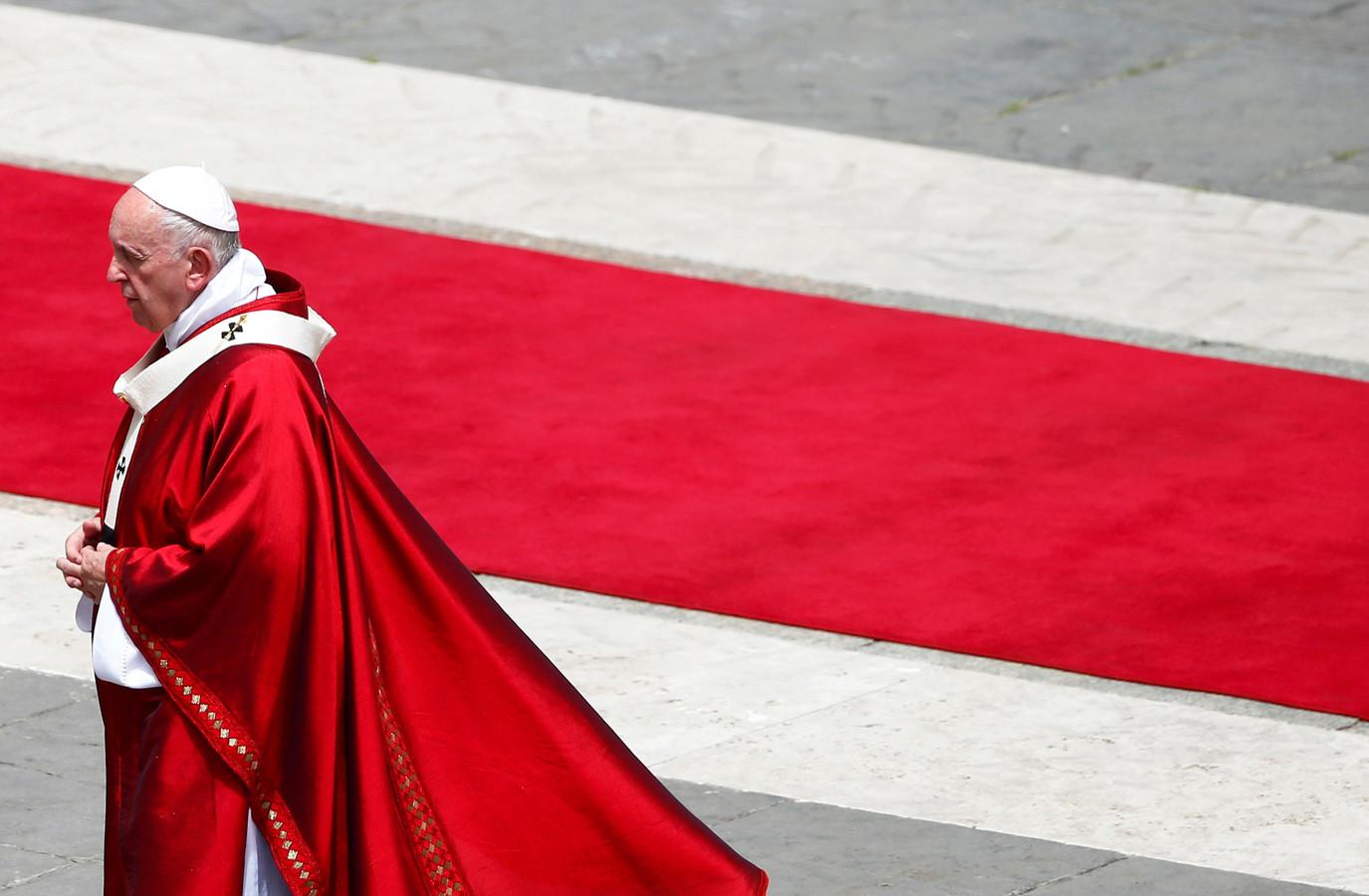 De huidige paus.