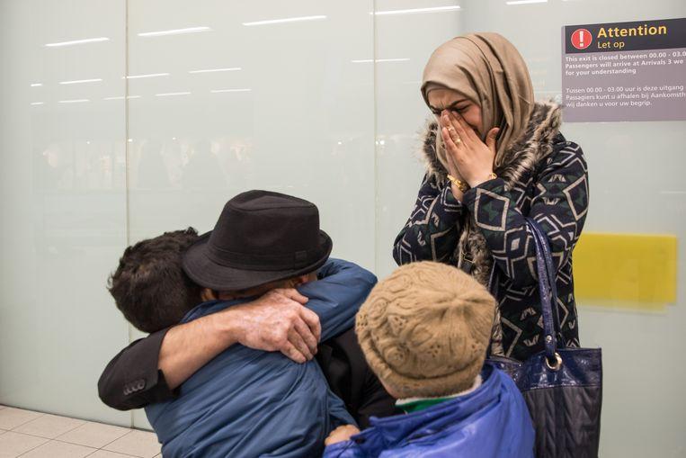 Jasim Hadid, vluchteling uit Damascus en wonende te Dronten, wordt in januari 2017 herenigd met zijn gezin. Beeld Hollandse Hoogte / Caspar Huurdeman Fotografie