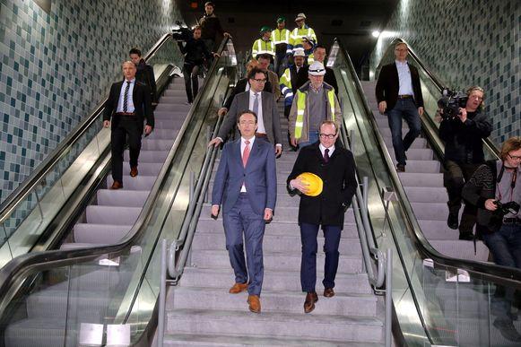 De Wever en Weyts nemen als eerste de trap.