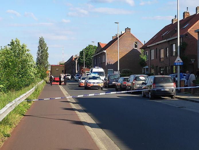 De Gérard Willemotlaan is voorlopig afgesloten voor alle verkeer.