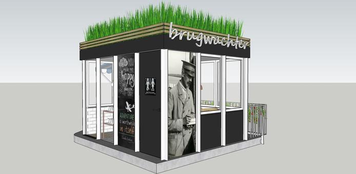 Idee voor een coffee to go in het brugwachtershuisje bij de Orthenbrug