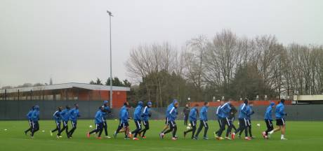 KAA Gent maakt zich klaar voor de wedstrijd tegen AS Roma