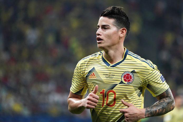 James Rodriguez in het shirt van de Colombiaanse ploeg.