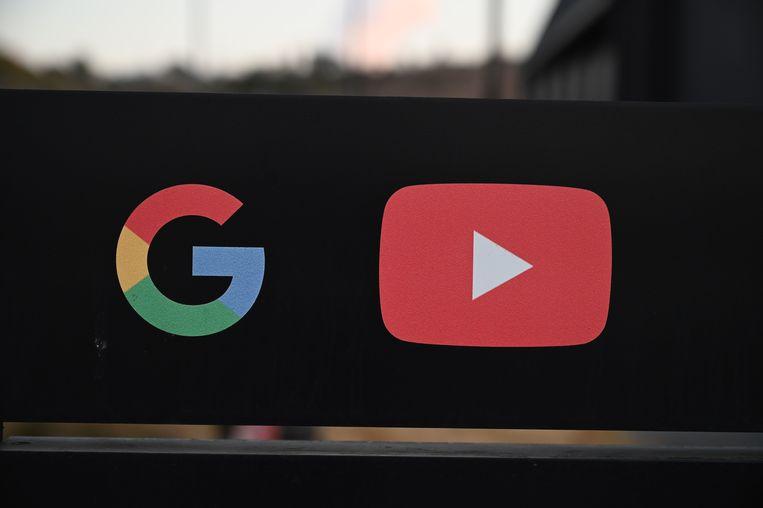 De logo's van Google en YouTube.