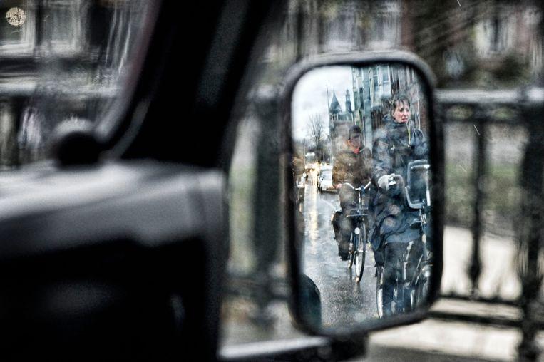 Van de dodehoekongevallen is 46 procent dodelijk. Bij ernstige ongelukken met een personenauto is dat 'slechts' 8 procent Beeld Patrick Post/HH