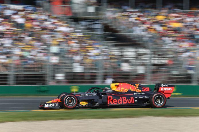 Max Verstappen tijdens de Grand Prix van Australië.