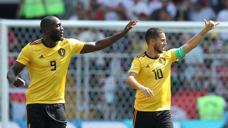 Hazard en Lukaku leiden België soepel voorbij Tunesië
