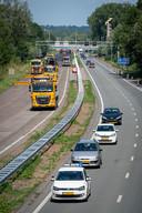 De afslag Kronenburg in Arnhem-Zuid is afgesloten.
