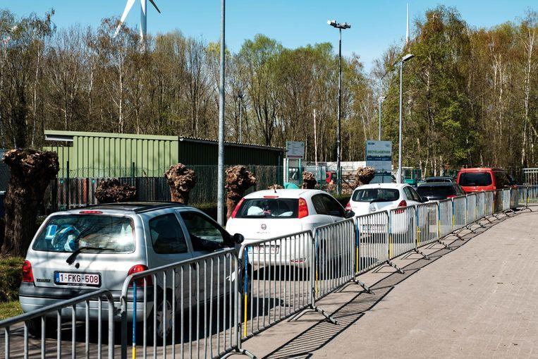 Het containerpark van Schelle.