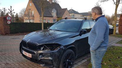 Dief steelt koplampen van peperdure BMW