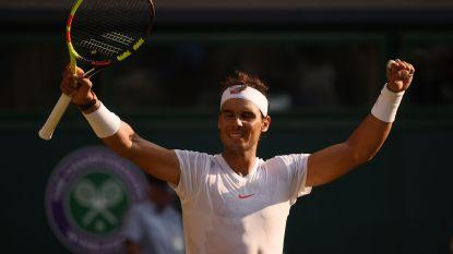 Mannenfinale Wimbledon wijkt zondag niet voor WK-finale - Nadal voor het eerst sinds 2011 in kwartfinale, ook Djokovic door