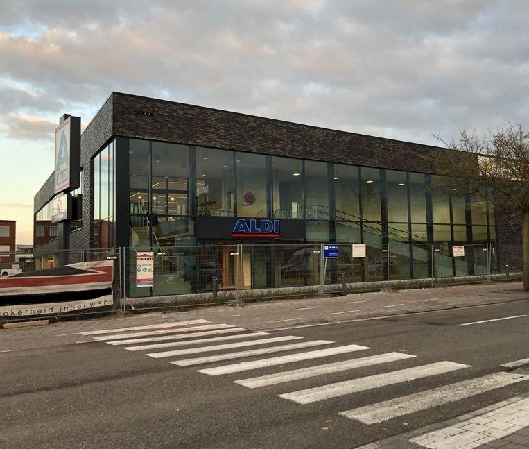 De nieuwbouw van Aldi in Oud-Turnhout
