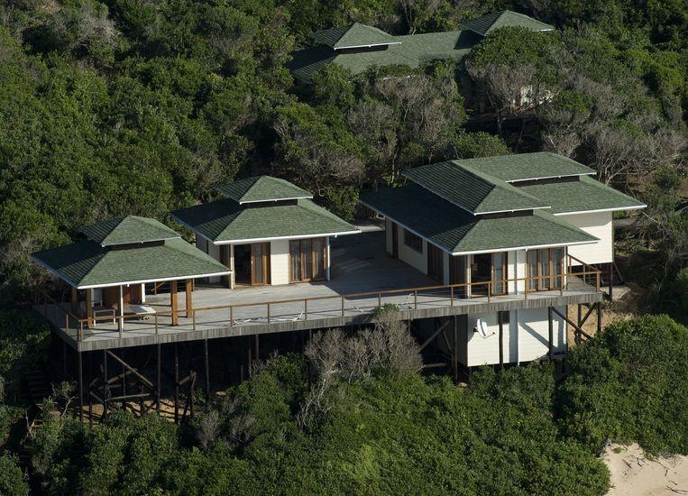 De inmiddels verkochte vakantievilla van Willem-Alexander en Maxima in Mozambique. Beeld ANP