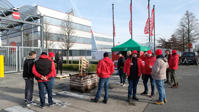 Stakingspiket bij Coca Cola in Wilrijk.