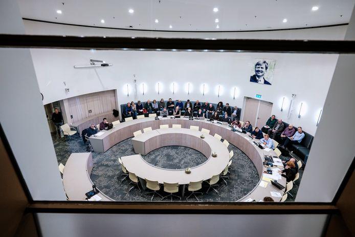 De raadszaal in Doetinchem, toen fysiek vergaderen nog kon.