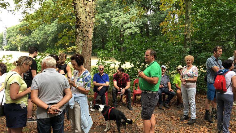 Deelnemers tijdens de Wandeling tegen Dementie in Genk.