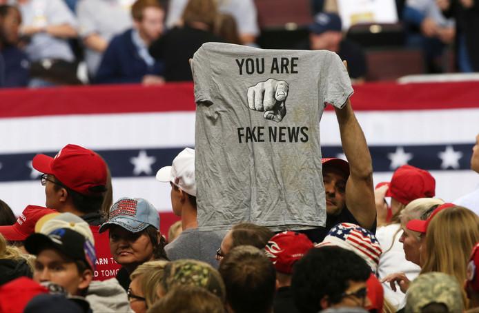 Des supporters de Donald Trump lors d'un meeting du président à Rochester, dans le Minnesota, le 3 octobre 2018.