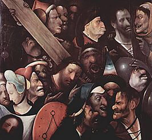 De Kruisdraging van Christus zou geen schilderij van Jeroen Bosch zijn.