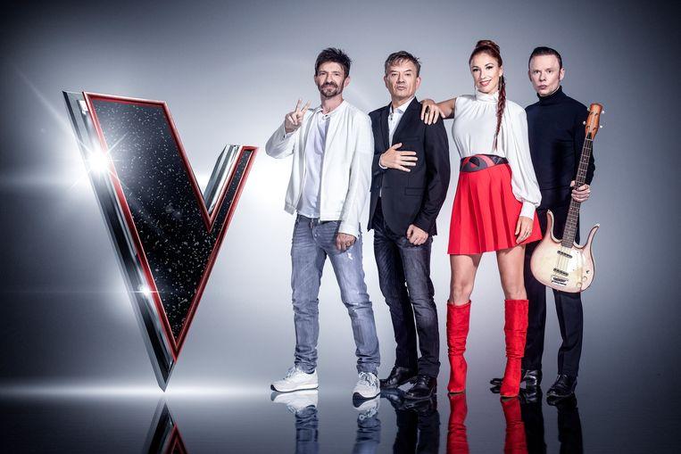 The Voice van Vlaanderen - coaches Koen Wauters, Bart Peeters, Natalia en Alex Callier