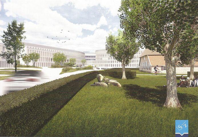 Nieuwbouwplannen van het  Slingeland Ziekenhuis Doetinchem.