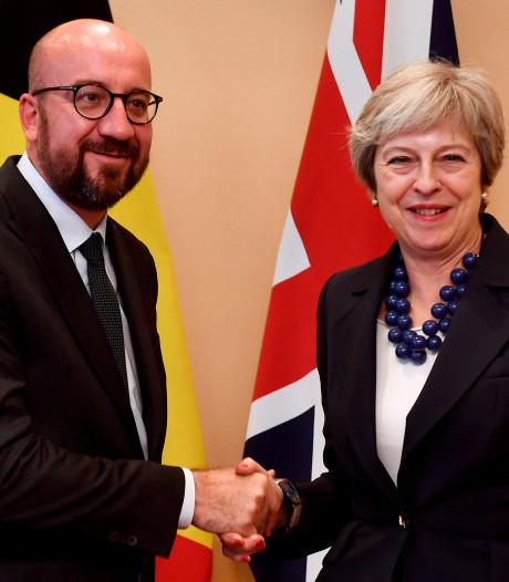 """Charles Michel salue la """"détermination"""" et la """"coopération"""" de Theresa May"""