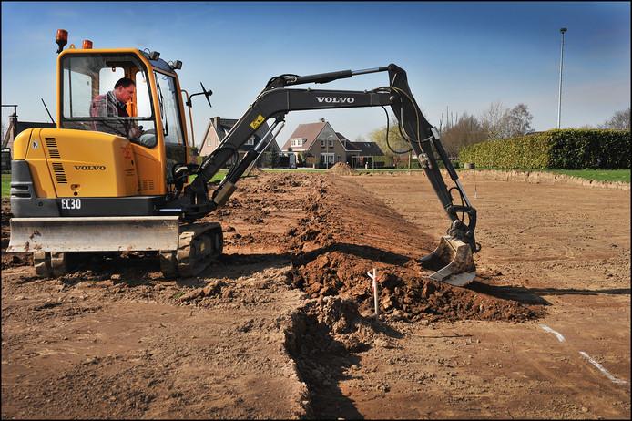 2012: het werk aan de skeelerbaan is in volle gang. Maar tot een succesvolle afronding is het nooit gekomen.